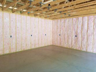Fiberglass batt wall insulation